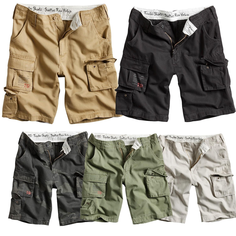 surplus trooper vintage division shorts bermuda 3 4 kurze hose cargo chino pants ebay. Black Bedroom Furniture Sets. Home Design Ideas