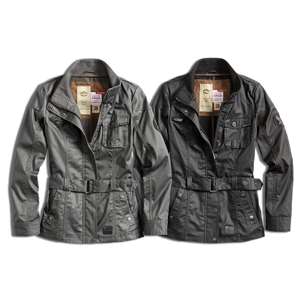 s t raw vintage damen biker jacke motorrad mantel coat. Black Bedroom Furniture Sets. Home Design Ideas