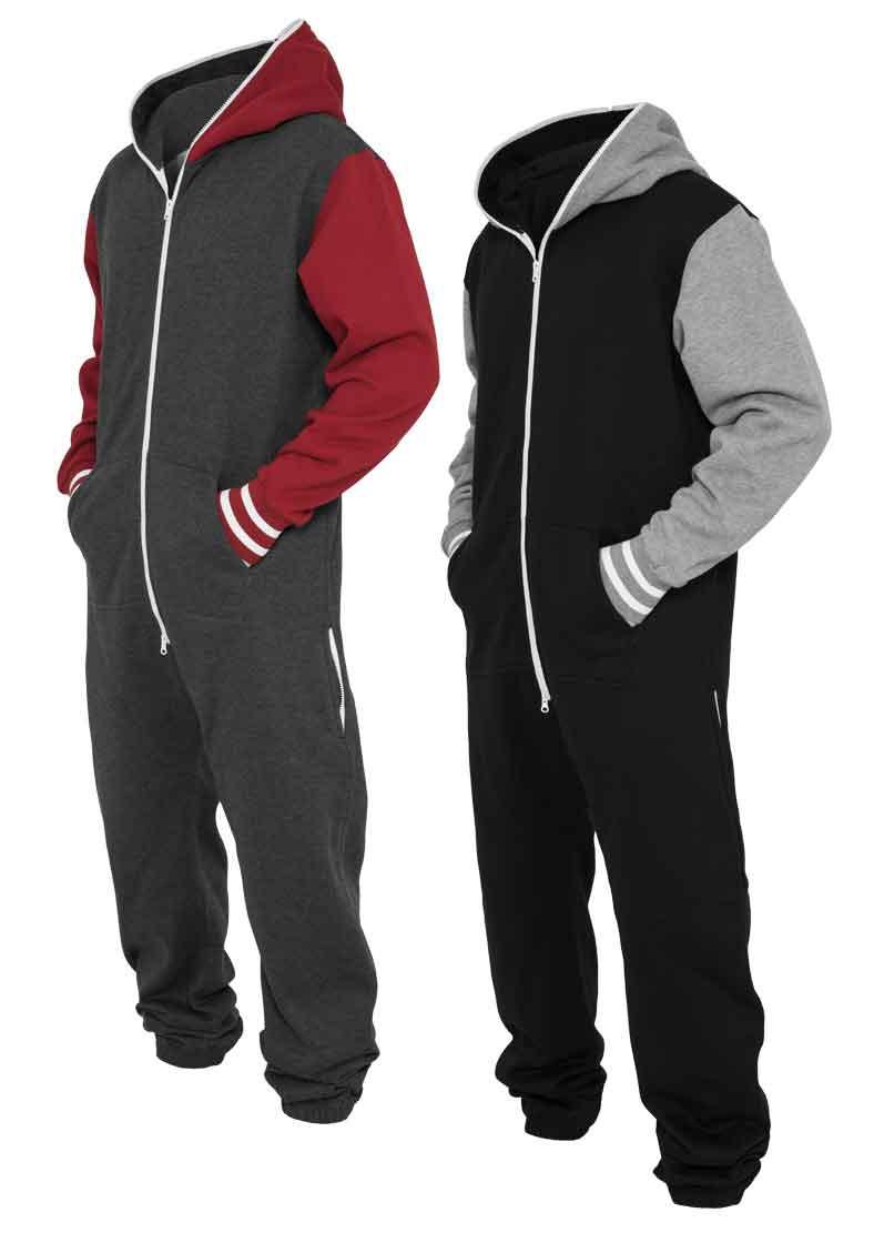 Urban Classics Herren Jump Suit Trainings Anzug Hoodie ...