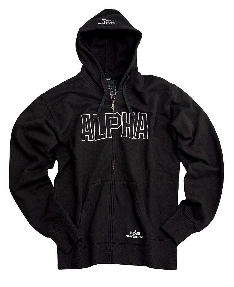 alpha industries track hoody zipper hoddie pullover. Black Bedroom Furniture Sets. Home Design Ideas