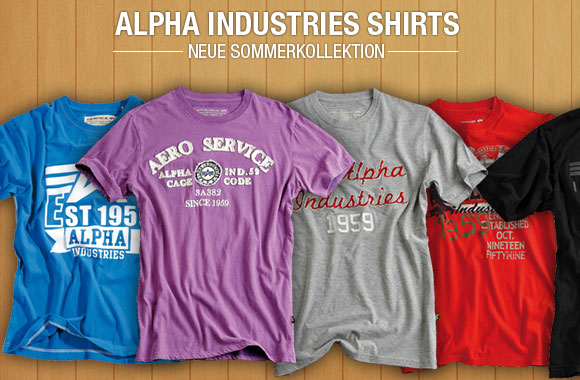 Alpha Industries Shirts Sommer 2012